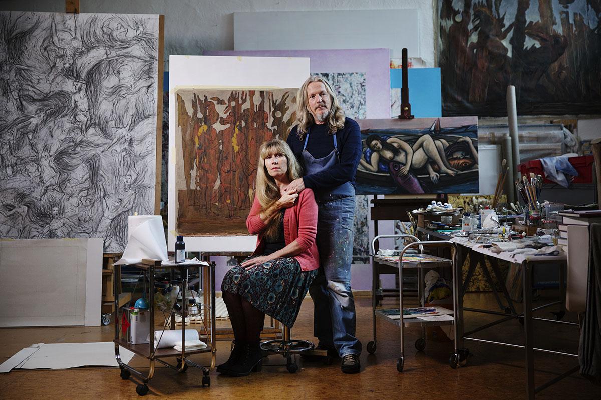 Wolfgang Beltracchi and his wife Helene. Image via VG Helg Magazine