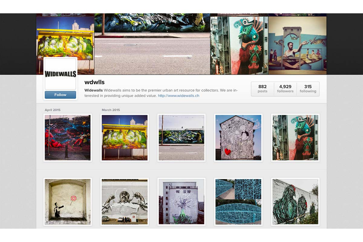 Widewalls Instagram