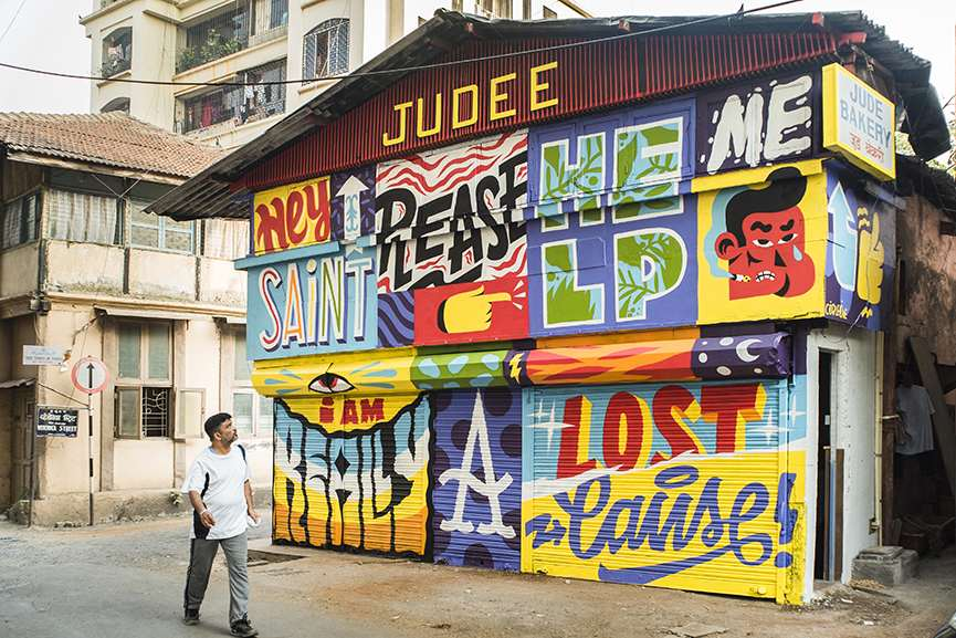 AKACORLEONE - Street Art India 2014. Photo Thomas Meyer