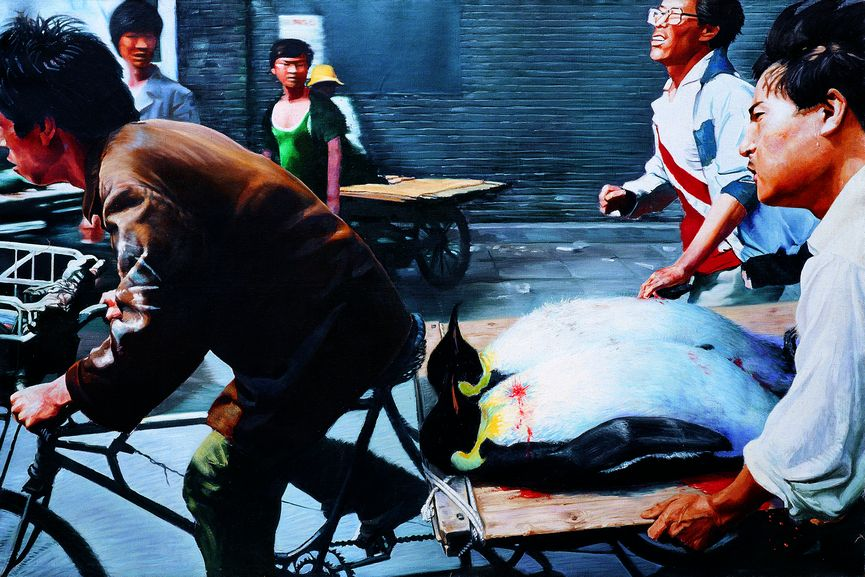 'New Beijing' by Wang Xingwei, 2001 (oil on canvas)