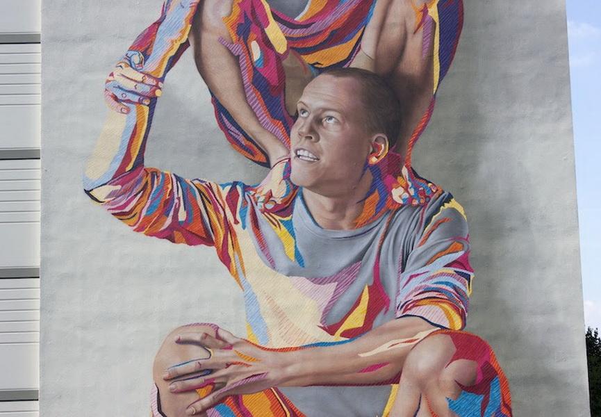 Addison Karl and James Bullough - TOTEM mural