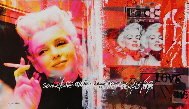 "Dganit Blechner - ""Marilyn Monroe"" Screenprint on Canvas by Dganit Blechner    Widewalls"