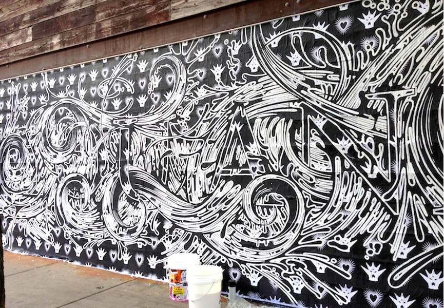 ASVP - You and me, 2013, mural in Chicago, USA