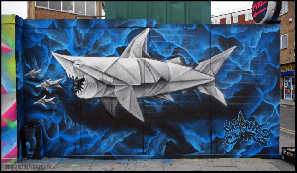 Airborne Mark - Origami Shark - London 2014