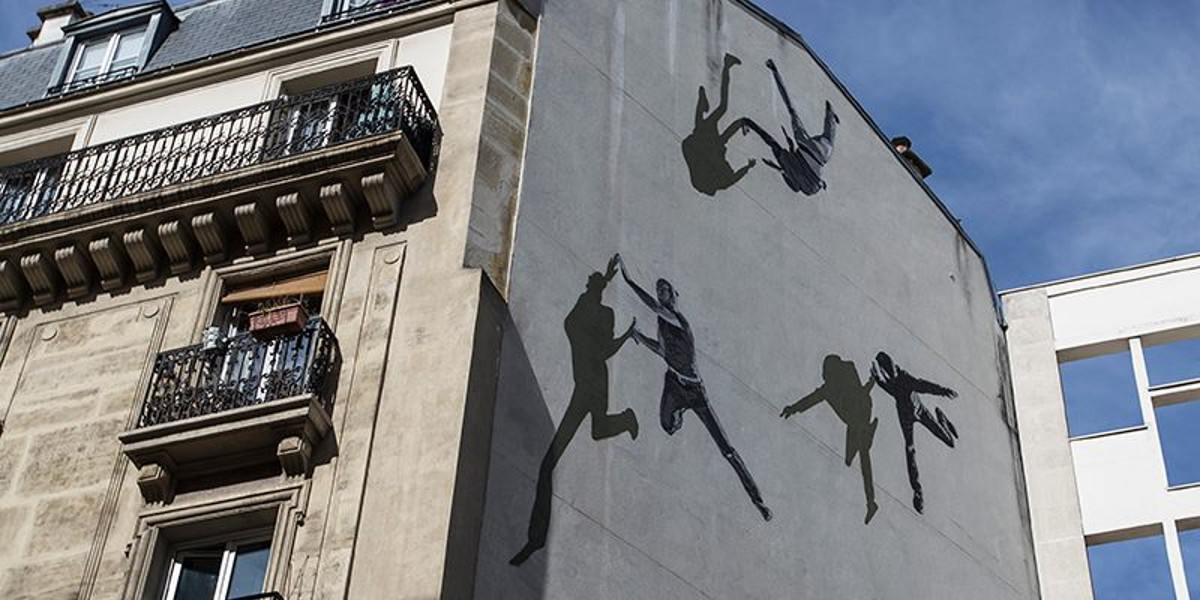 Anders Gjennestad Strok - detail of mural on Rue De La Glaciere, Paris, France, 2016, photo credits - Street Art News