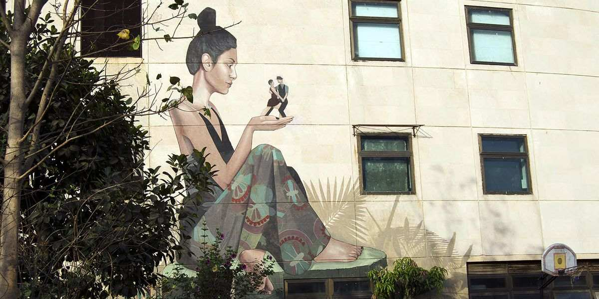 Artez - Mural in Mumbai - image courtesy of the artist