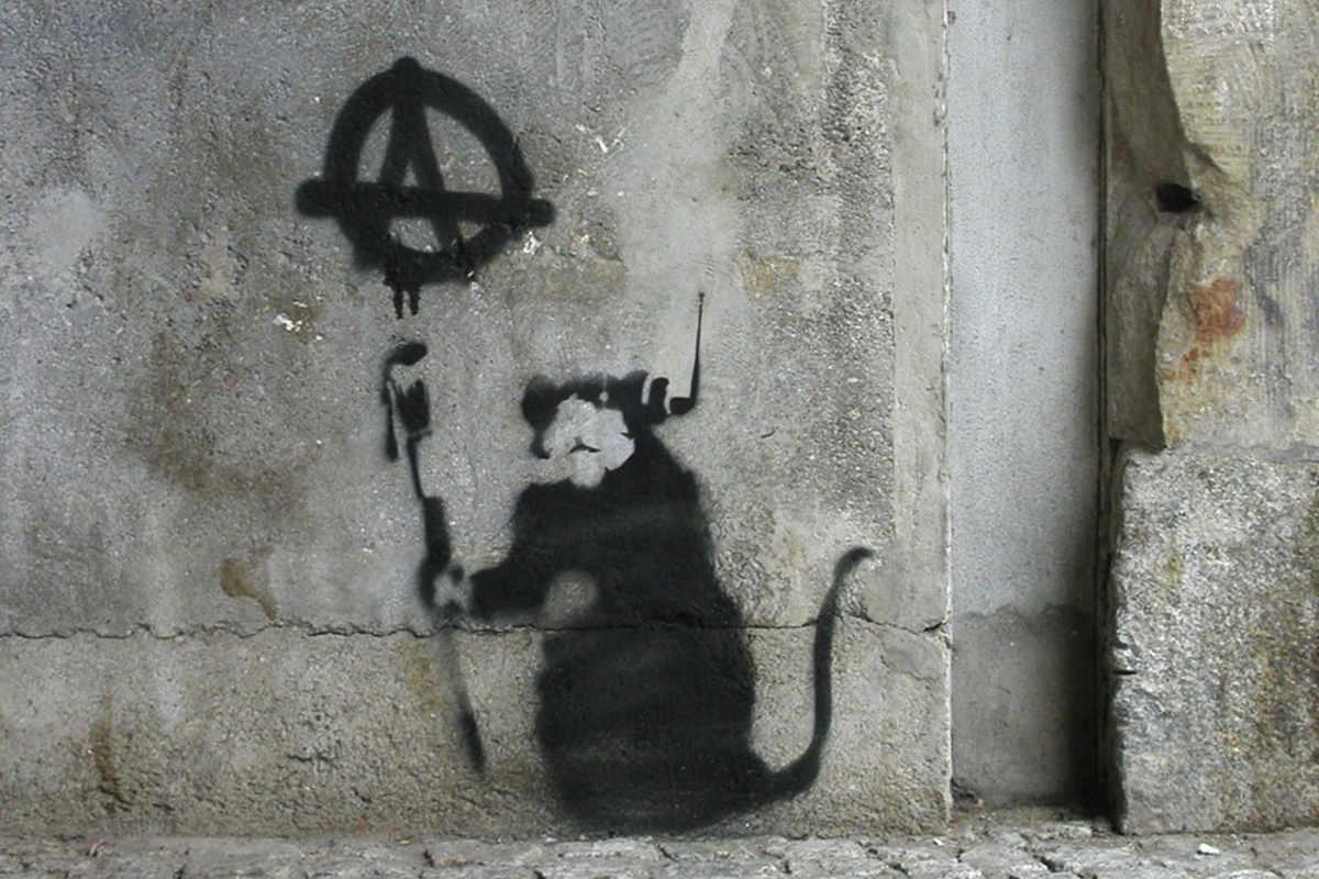 Banksy - Anarchy Rat, Berlin 2003