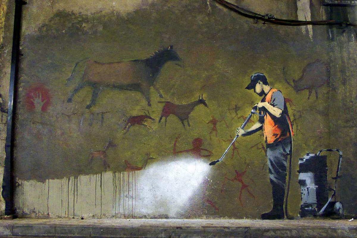 Banksy - 'Cans Festival', Leake Street Tunnel, London 2008