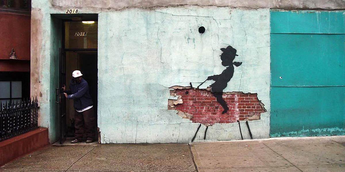 Banksy -  Cowboy, Bronx 2008