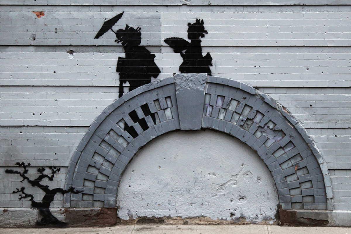 Banksy - Geishas, Bed Stuy, New York, USA 2013