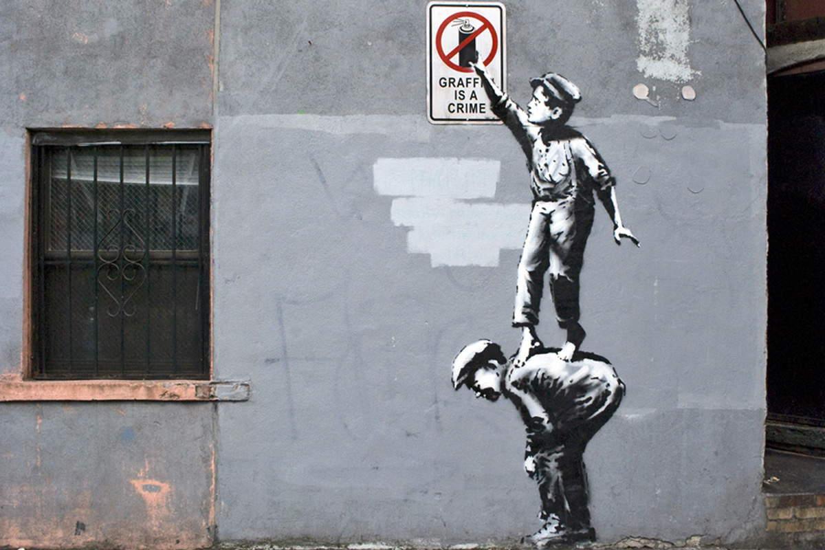 Banksy - Graffiti Is A Crime, New York, 2013