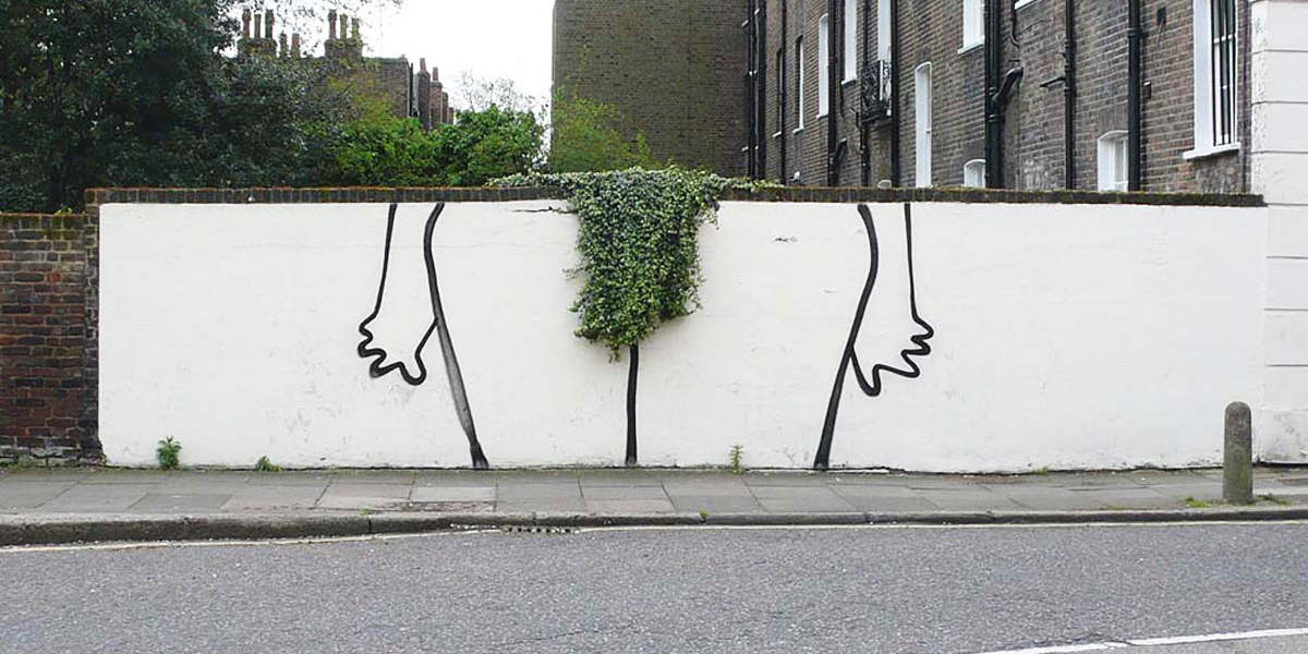 Banksy - Highbury Bush, Canonbury, London 2012