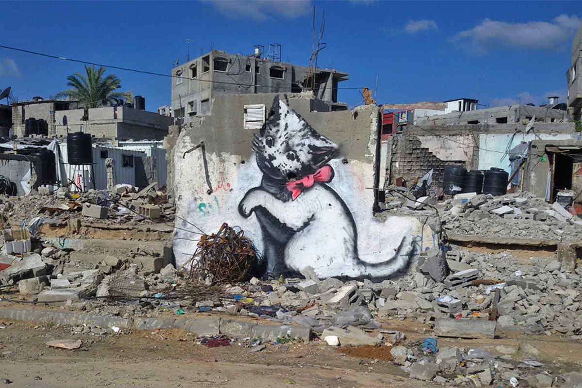 Banksy - Kitten, Gaza, 2015