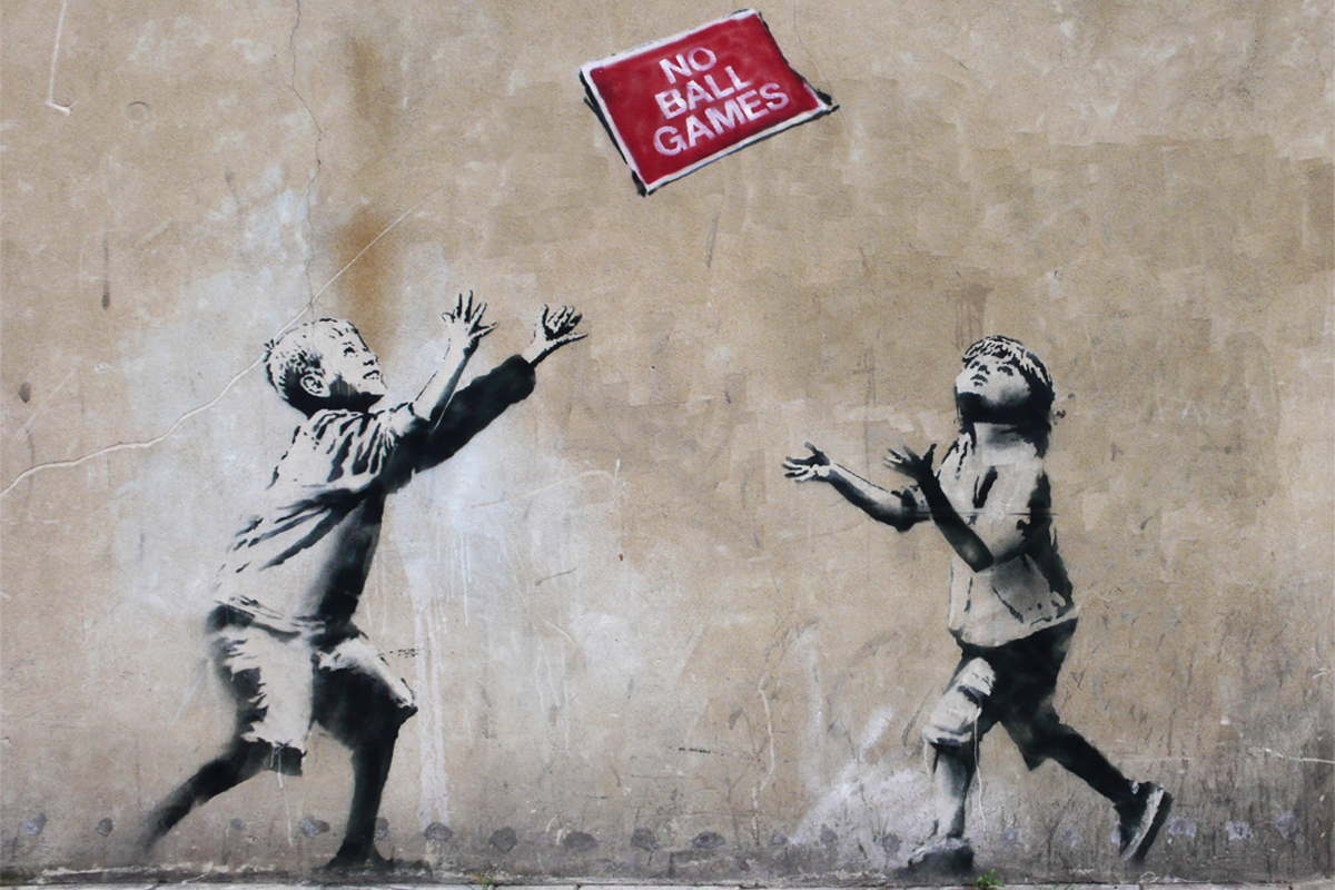Banksy - No Ball Games, Tottenham, north London, 2009