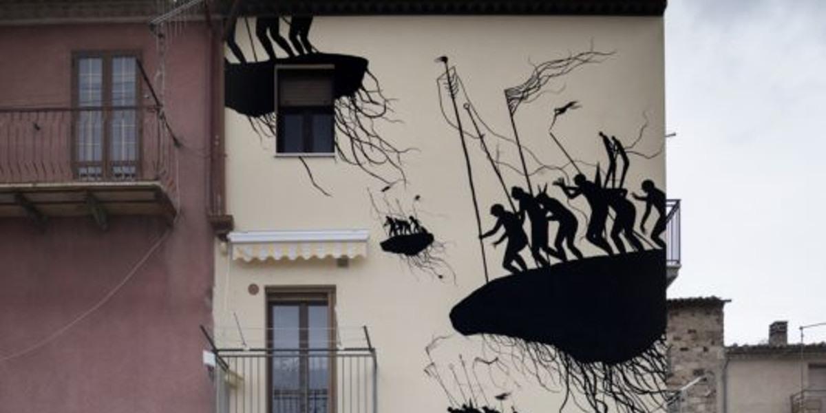 David de la Mano - detail of mural for CVTa Street Fest, photo by Alessia di Risio