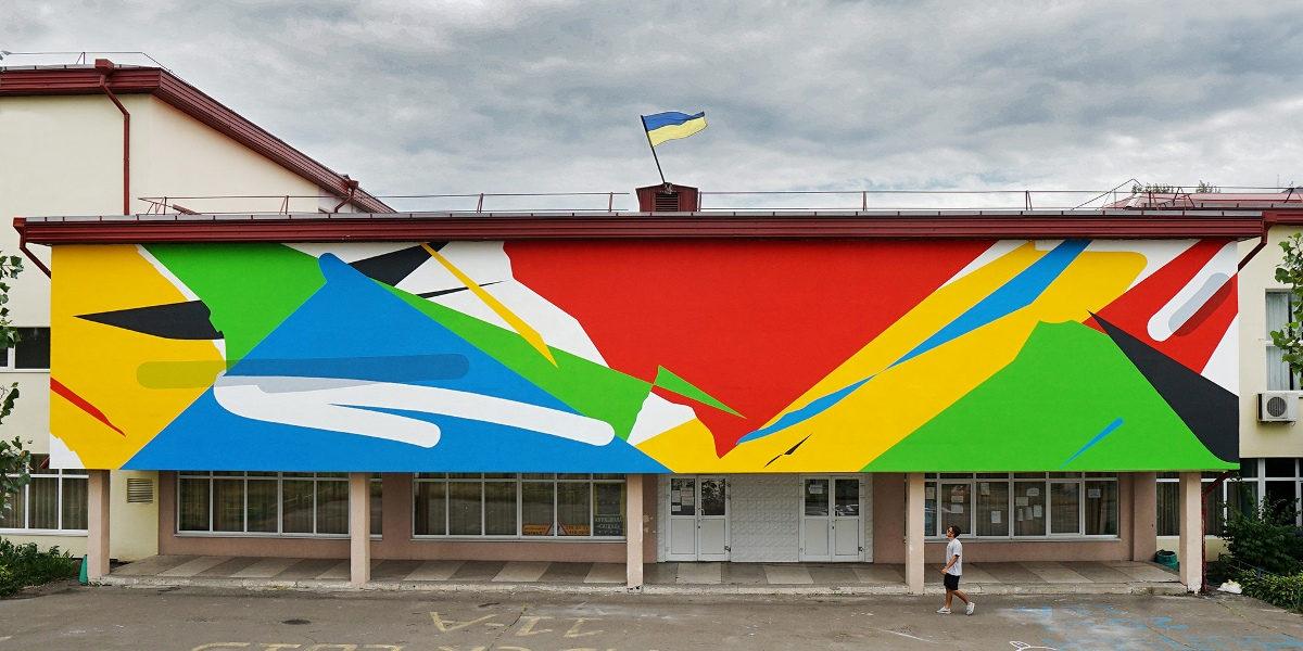 Elian - Slight Presence of Transparency, mural in Kiev, Ukraine, 2016 - image courtesy of the artist