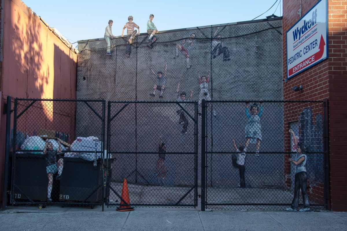 Ernest Zacharevic - Fence Climbers - Photo Credit Ernest Zacharevic