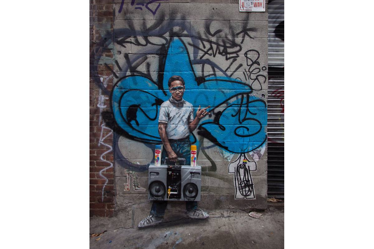 Ernest Zacharevic - Lil Crazy Legs - Photo Credit Ernest Zacharevic