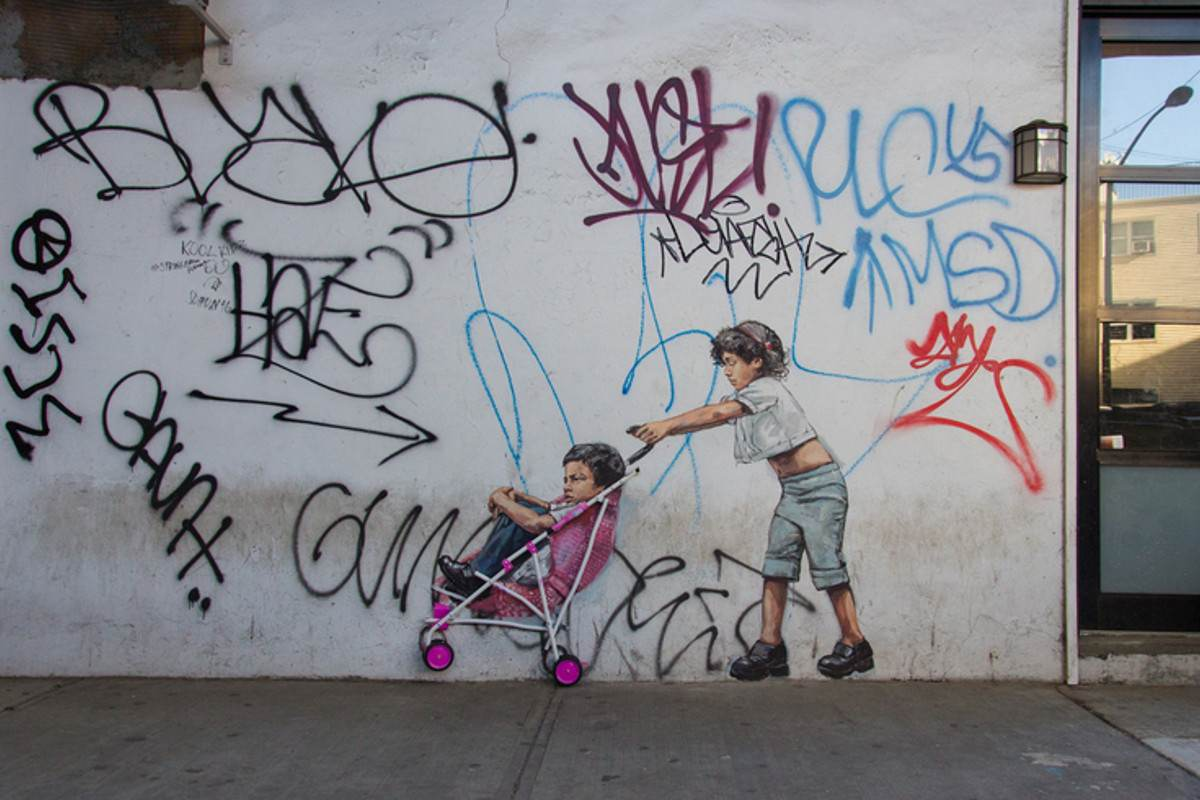 Ernest Zacharevic - You be the Kid ill be the Mum - Photo Credit Martha Cooper