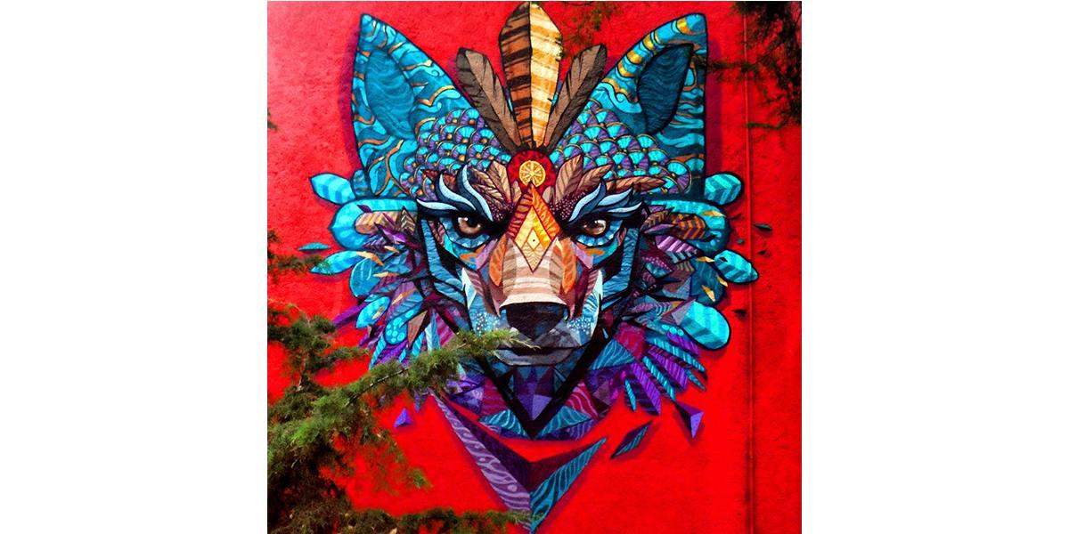 Farid Rueda - Coyote emplumado, Mexico City, 2015