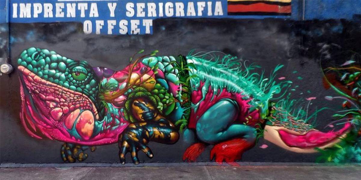 Farid Rueda - Fantastic Nature in Street Art Morelia, Mexico, 2014