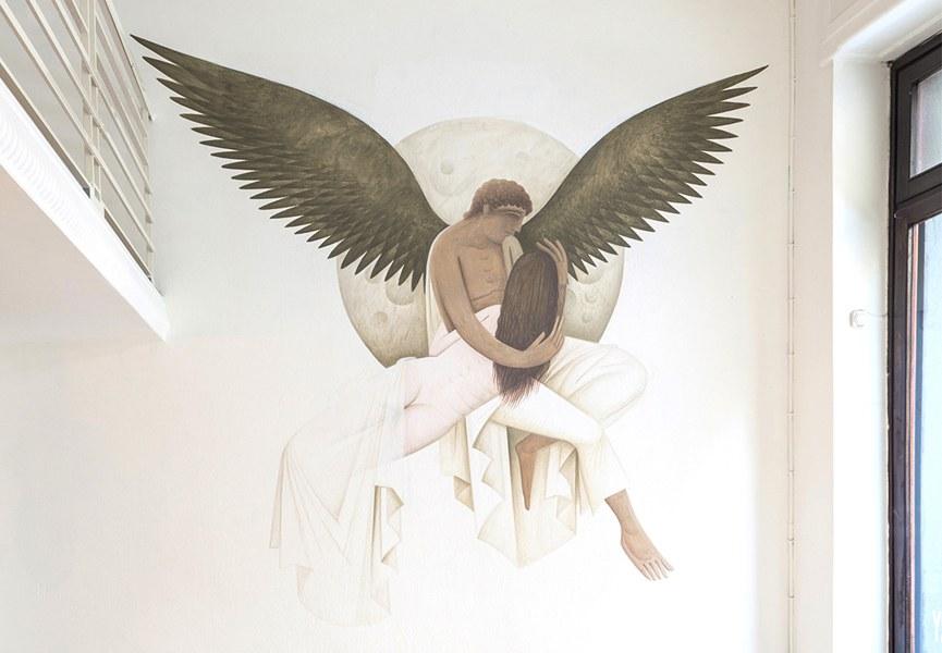 Fikos Fallen Angels Mural Torino 2015