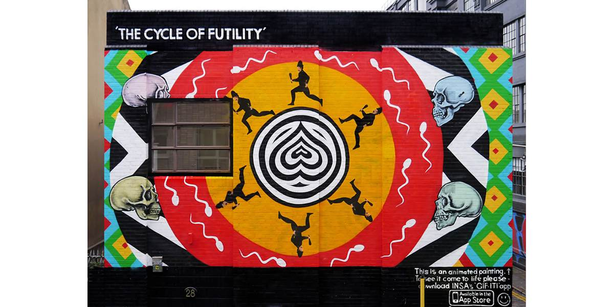 INSA - The Cycle Of Futility Redchurch Street, London 2014