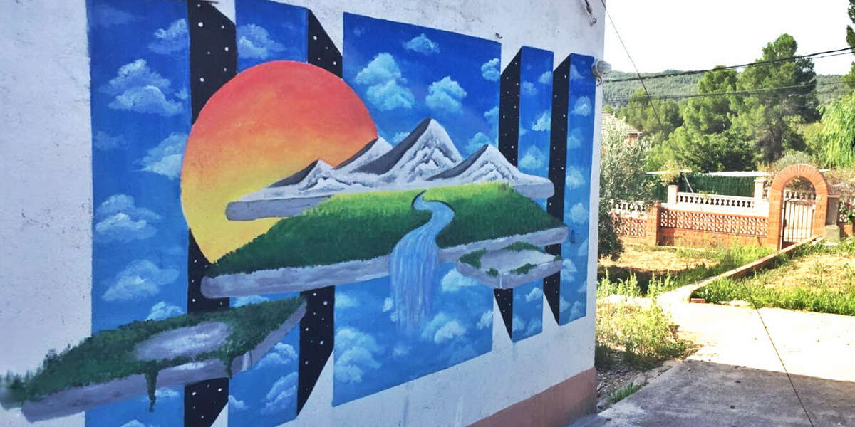Irene Lopez Leon - Mural en El Penedéso, 2016
