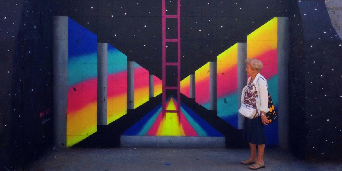 Irene Lopez Leon - Mural in Creu Coberta, 2016
