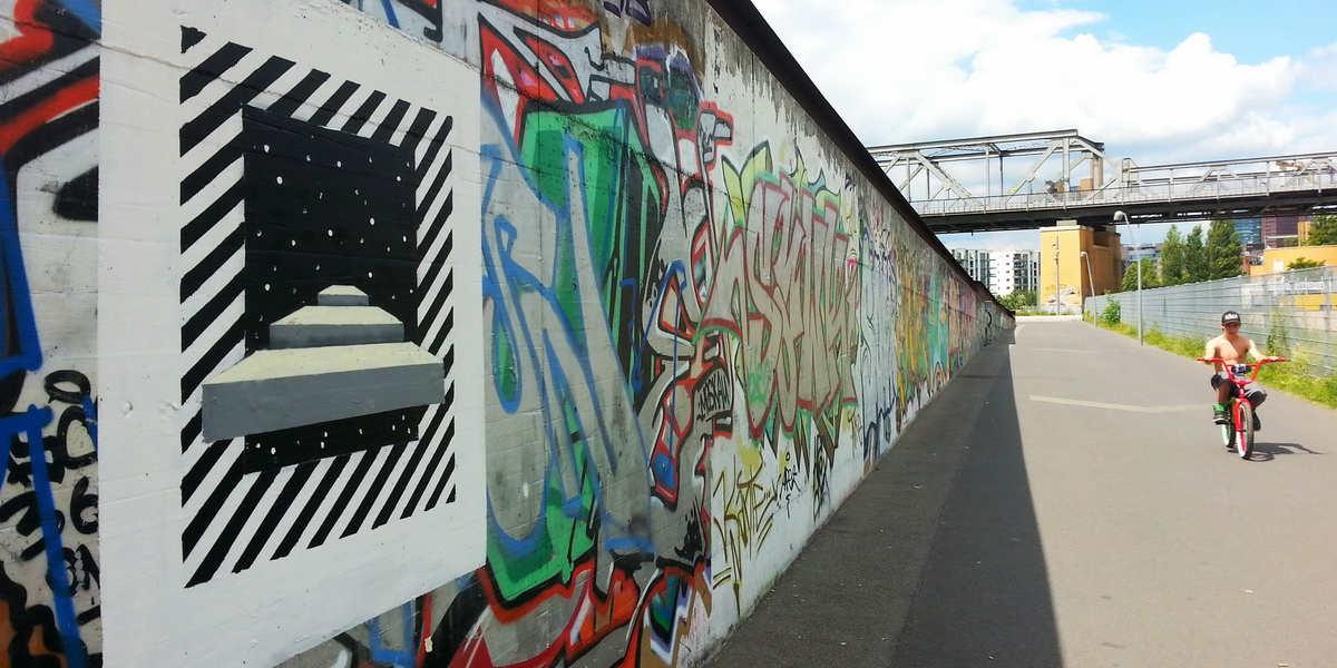 Irene Lopez Leon - Mural in Tiergarten, Berlin, 2016
