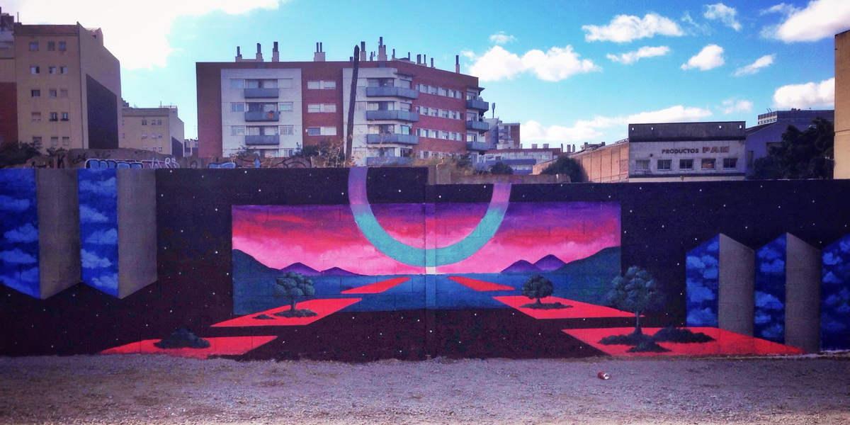Irene Lopez Leon - Us Barcelona – Large Landscape Mural, 2017