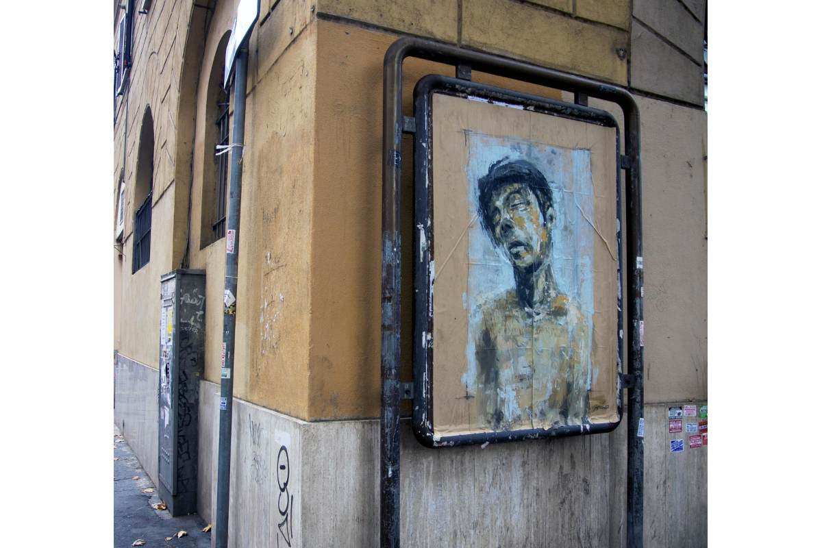 Jerico - AFFISSIONE ABBUSIVA, Porgi l'altra guancia, Rome 2014