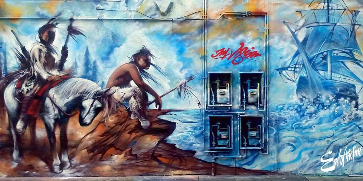 Jim Vision - mural in Turville Street, London, UK, 2016