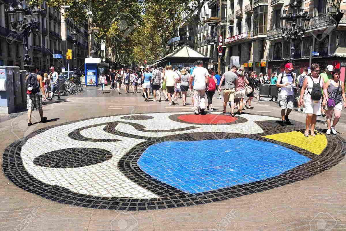 Joan Miro - La Rambla mosaics | Widewalls