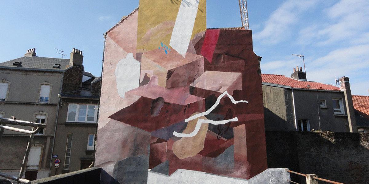 Johannes Mundinger - L'histoire en marron (detail), Boulogne sur Mer, 2016 - image courtesy of The Art Union
