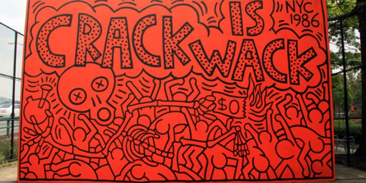 Keith Haring - Crack is Wack #1 - New York, 1986