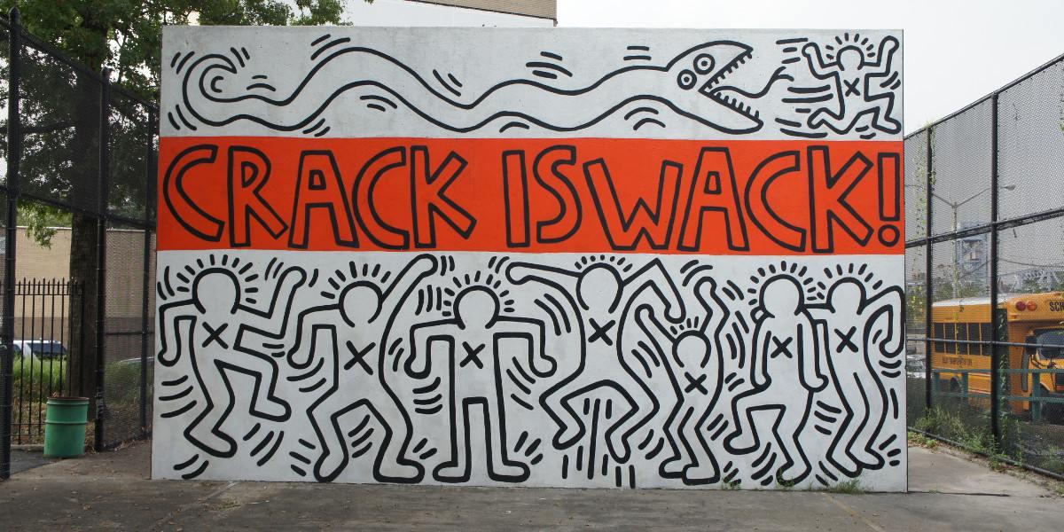 Keith Haring - Crack is Wack #2 - New York, 1986