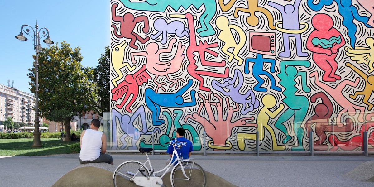 Keith Haring - Tuttomondo - Pisa, Italy, 1989 - Photo Credits Bernardo Ricci Armani
