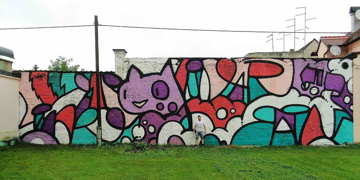 Lonac & Lunar - Pinks, Violets, Turquoises, Sisak, 2016 - Image courtesy of Lonac & Lunar