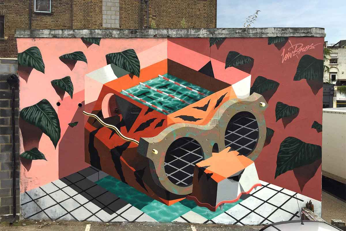 Low Bros - mural in London, UK, 2015