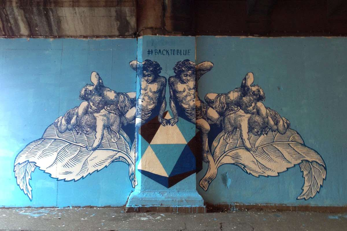 Lucamaleonte - #Backtoblue, Rome, Italy, 2014, photo credits - Street Art News