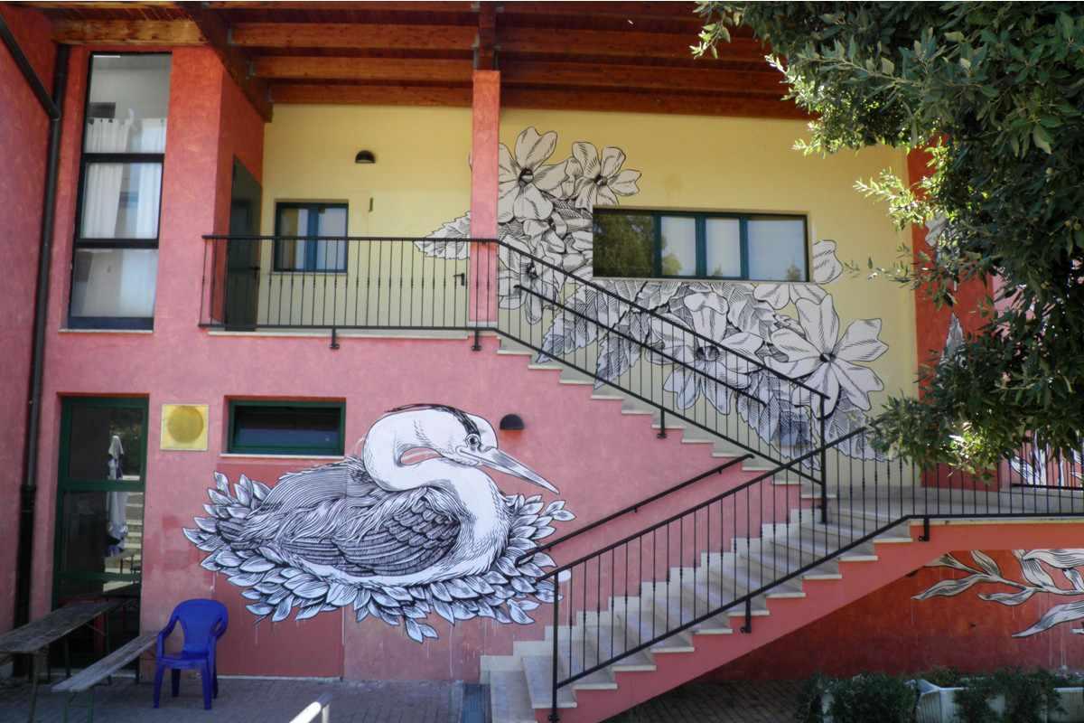 Lucamaleonte - Mural for Sale Festival, Castel di Lama, 2013, photo credits - Il Gorgo