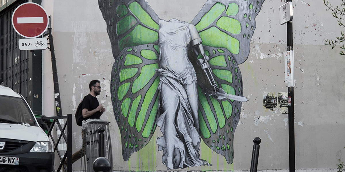 Ludo - Victory (detail), Paris, France, 2016