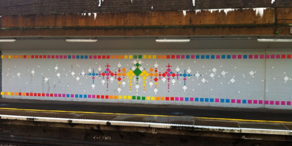 Mademoiselle Maurice - Rainbow Road, Maryland Rail Station, London, 2016, photo credits - artist
