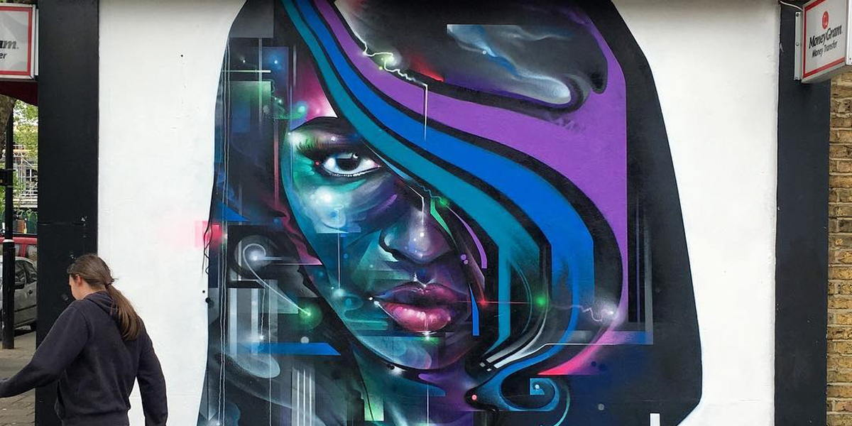 Mr Cenz - Mural in Newham (detail), 2016