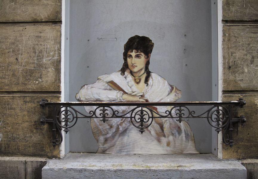 Nadege Dauvergne - Le Balcon, Passage Roche, Pantin, 2014, photo credits - artist
