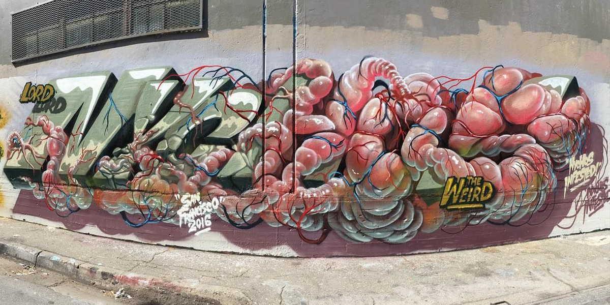 Nychos - Mural in San Francisco, 2016