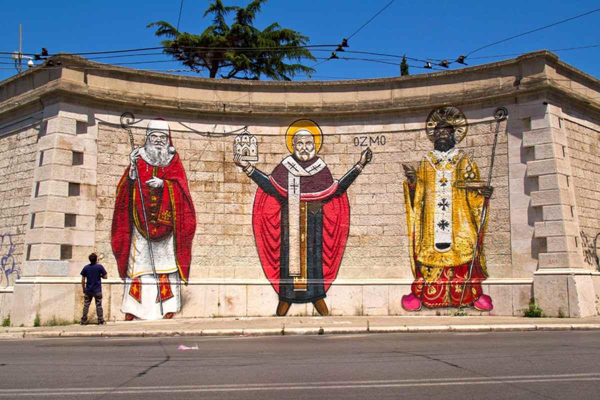 OZMO - The Three San Nicolas - Bari, Italy, 2013