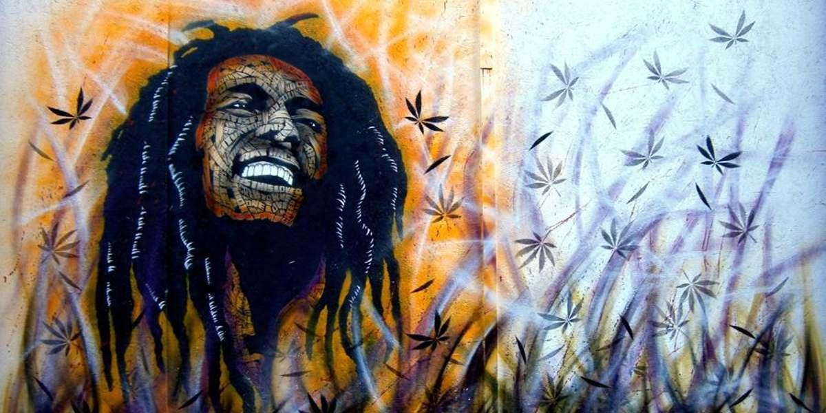 Otto Schade - Bob Marley Enjoying, London - Copyright Otto Schade