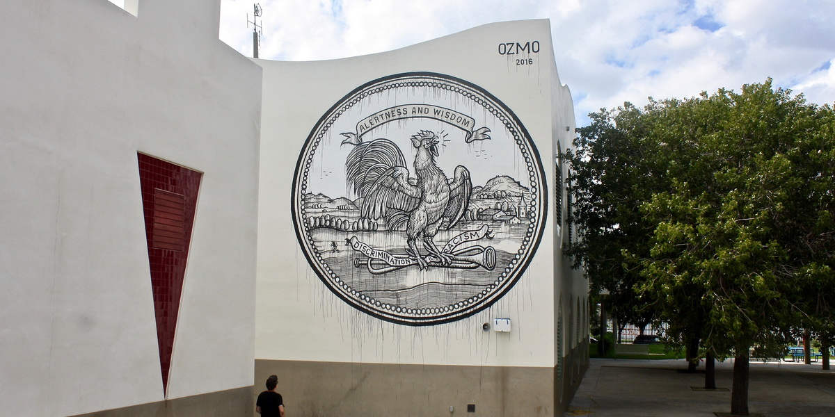 Ozmo - Grab this cock, 2016 - the RAW project, Wynwood, Miami - photos by Arnold R MelgarFoundation 2 F.A.M.E.